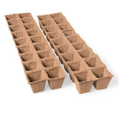 "2"" Square Biodegradable Pots, 36 Cells - Gardener's Supply Company"