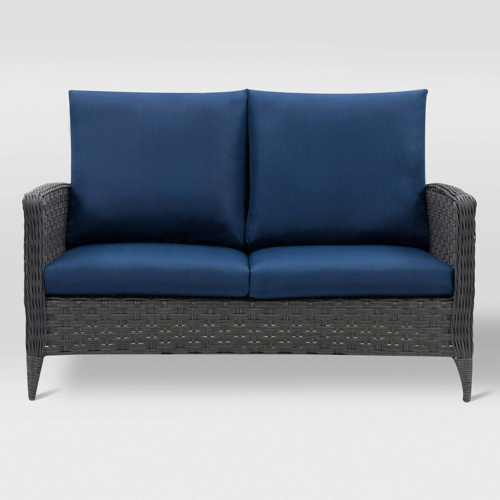 Parkview Patio Loveseat Navy CorLiving
