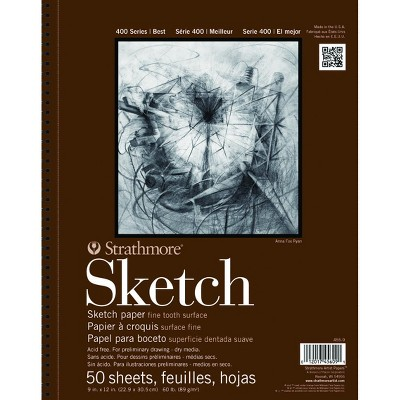 Strathmore 400 Series Sketch Pad, 11 x 14 Inches, 60 lb, 50 Sheets