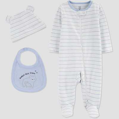 Baby Boys' 3pc Sleep N' Play - Just One You® made by carter's Blue