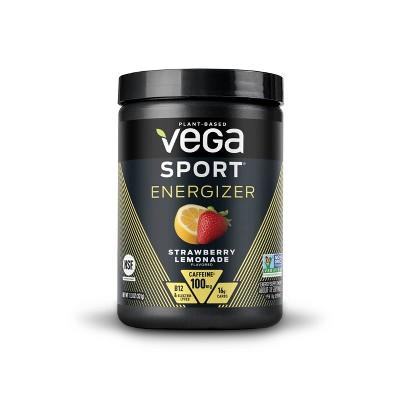 Vega Sport Energizer Pre Workout Dietary Supplement - Strawberry Lemonade - 11.3oz