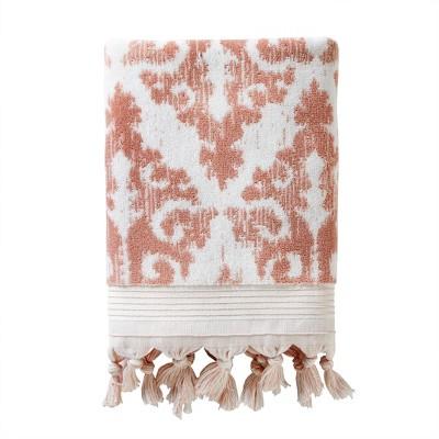Mirage Fringe Bath Towel Coral - SKL Home
