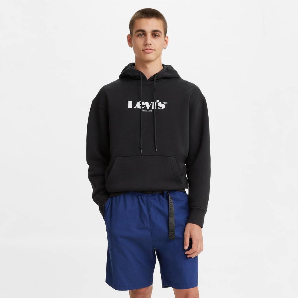 Levi 39 S 174 Men 39 S Relaxed Modern Vintage Logo Hooded Sweatshirt Black S