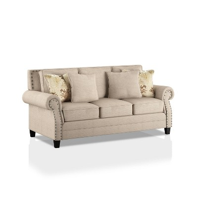 Lakemont Nailhead Trim Sofa Beige/Gold - HOMES: Inside + Out
