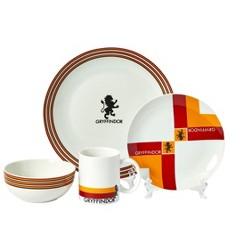 Seven20 Harry Potter Gryffindor 16-Piece Dining Set | Set Includes Plates, Bowls, & Mugs