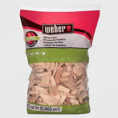 Weber Apple Wood Chips, 192 Cu. In. bag
