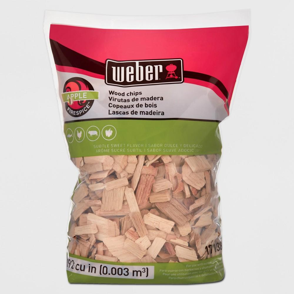 Weber Apple Wood Chips, 192 Cu. In. bag, Brown 51335274