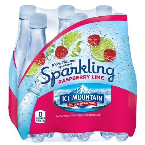 Ice Mountain Brand Sparkling Natural Spring Water Raspberry Lime - 6pk/16.9 fl oz Bottles - image 1 of 2