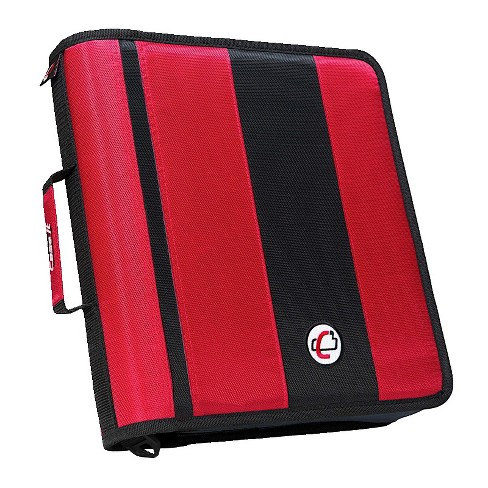 Case-it Classic O-Ring Zipper Binder, Red, 2 Inches - image 1 of 2