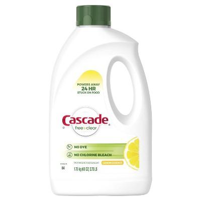 Cascade Free & Clear Gel Dishwasher Detergent - Lemon Essence -  60oz