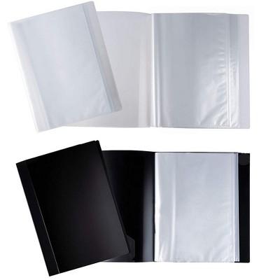 Juvale 4-Pack Display Book w/ 40-Pocket Sheet Protector, Portfolio Folder for Document