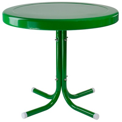 "Northlight 22"" Outdoor Retro Tulip Side Table, Green"