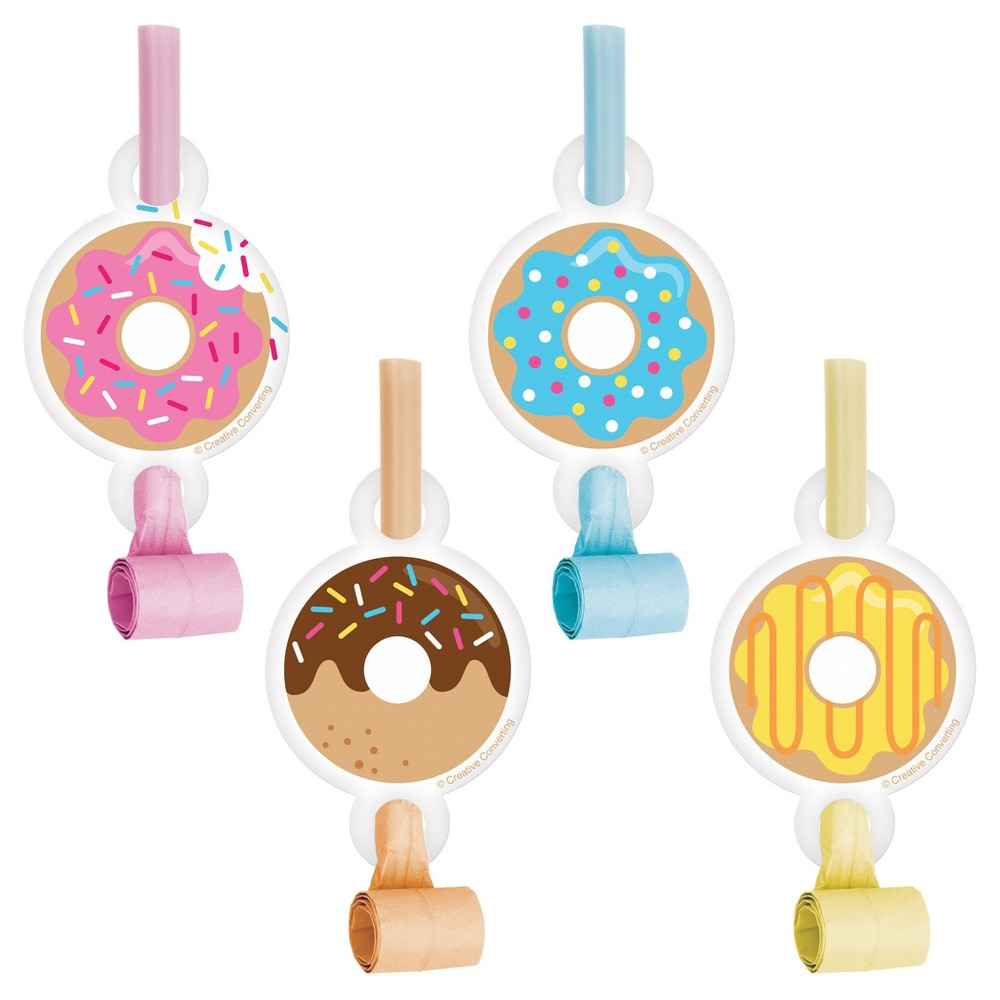 8ct Donut Time Party Blowers