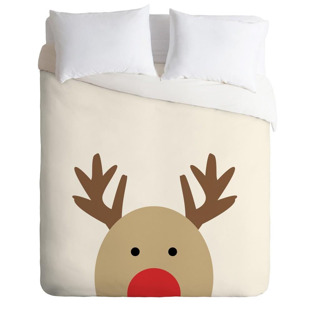 Twin/Twin XL Allyson Johnson Reindeer Duvet Cover Set Neutral - Deny Designs, Beige