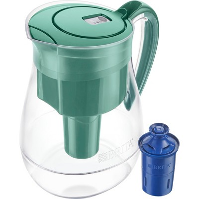 Brita Monterey 10 Cup BPA Free Water Pitcher With 1 Longlast Filter - Green