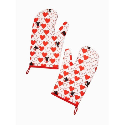 Seven20 Disney Mickey Mouse Red Heart Series Oven Mitts | 2 Pack