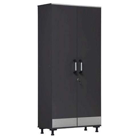 Chief Tall Storage Cabinet Steel Gray - Room & Joy - image 1 of 4
