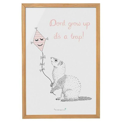 "Wood Framed Wall Décor ""Don't Grow Up. It's A Trap"" - 3R Studios - image 1 of 1"