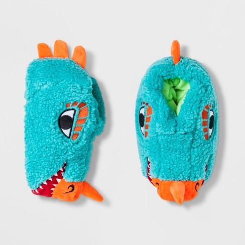 7d0f50364e1 Boys  Lizard Head Bootie Slippers - Cat   Jack™ Blue   Target