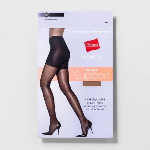 08d36a57f80 Hanes Solutions Women s Sheer Hi Waist Shaping Pantyhose. Shop all Hanes  Premium