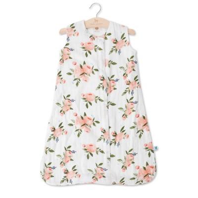 Little Unicorn 2-way zipper Muslin Sleep Bag - Watercolor Roses