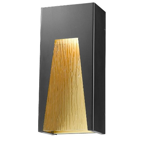 """Z-Lite 561M-BK-GD-CSL-LED Millenial Single Light 13-1/4"""" High Integrated LED Outdoor Wall Sconce - image 1 of 1"""
