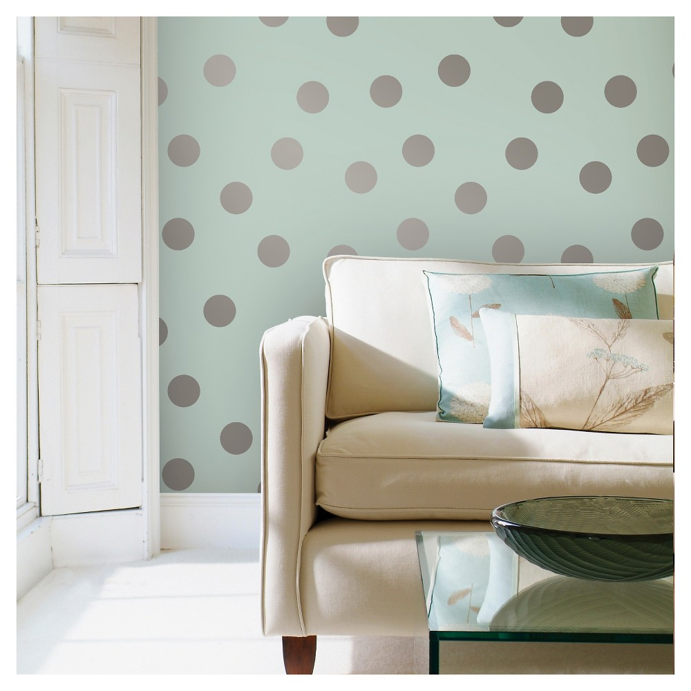 Devine Color Dots Peel & Stick Wallpaper - Horizon and Sterling, Lite Blue
