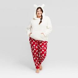 Women's Plus Size Holiday Llama Pajama Set - Wondershop™ White