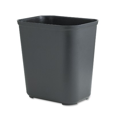 Rubbermaid Commercial Fire-Resistant Wastebasket Rectangular Fiberglass 7gal Black 254300BK