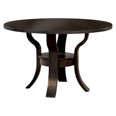 Sun Pine Summers Transitional Round Dining Table Espresso