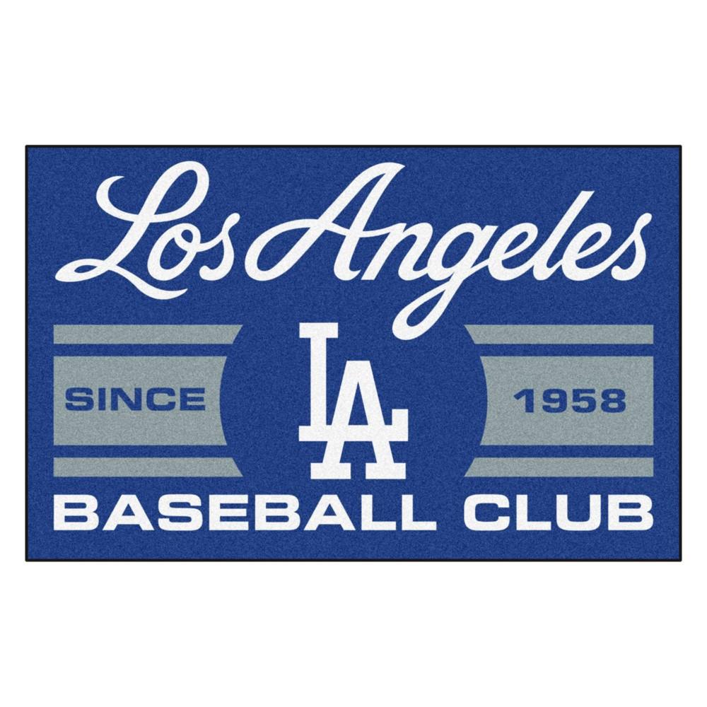 Mlb Los Angeles Dodgers Baseball Club Starter Rug 19 X30