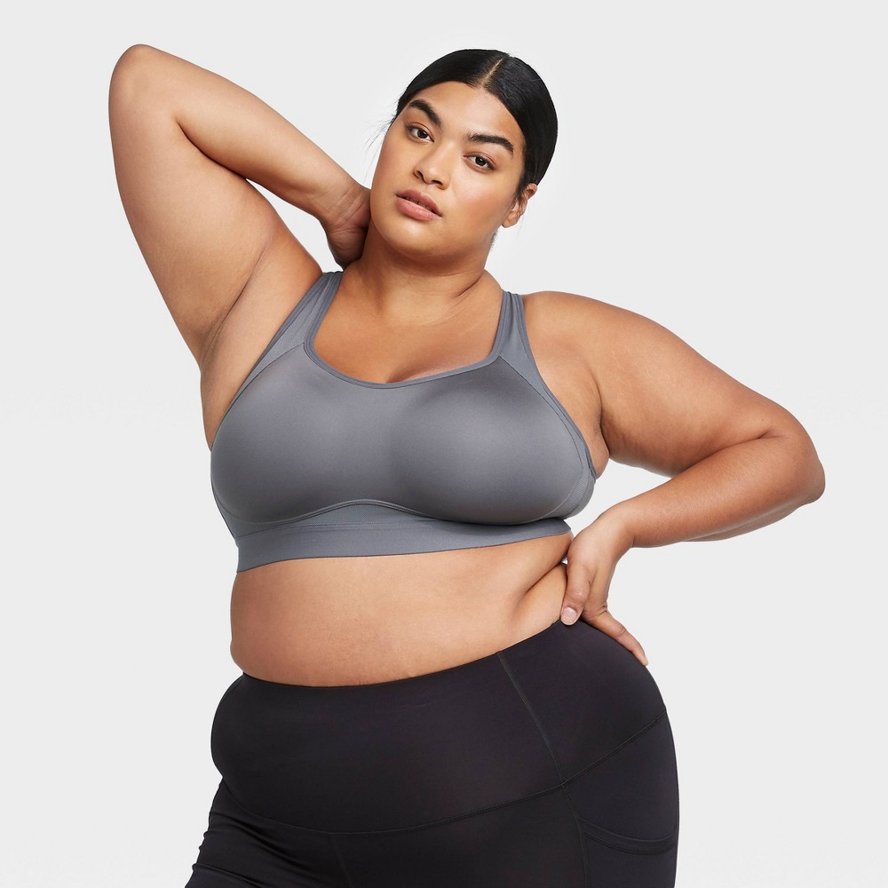 Women 39 S Plus Size High Support Convertible Strap Bra All In Motion 8482 Dark Gray 44d