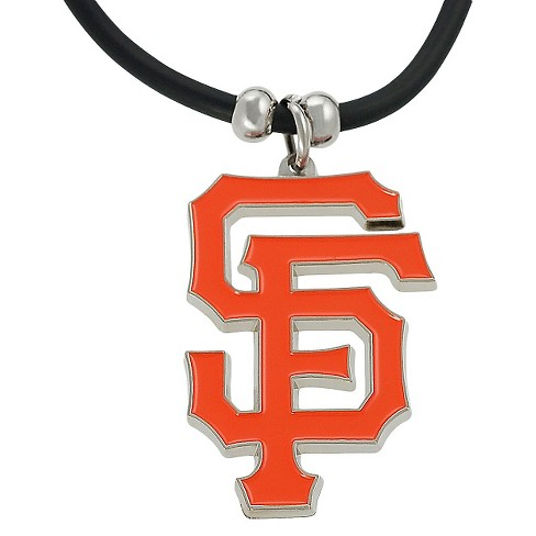 "Women's Journee Collection Major League Baseball Team Cord Necklace in Silvertone - Orange (10.5"") - image 1 of 2"
