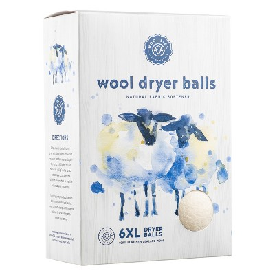 Woolzies Wool Dryer Balls & Natural Fabric Softener - 6pk