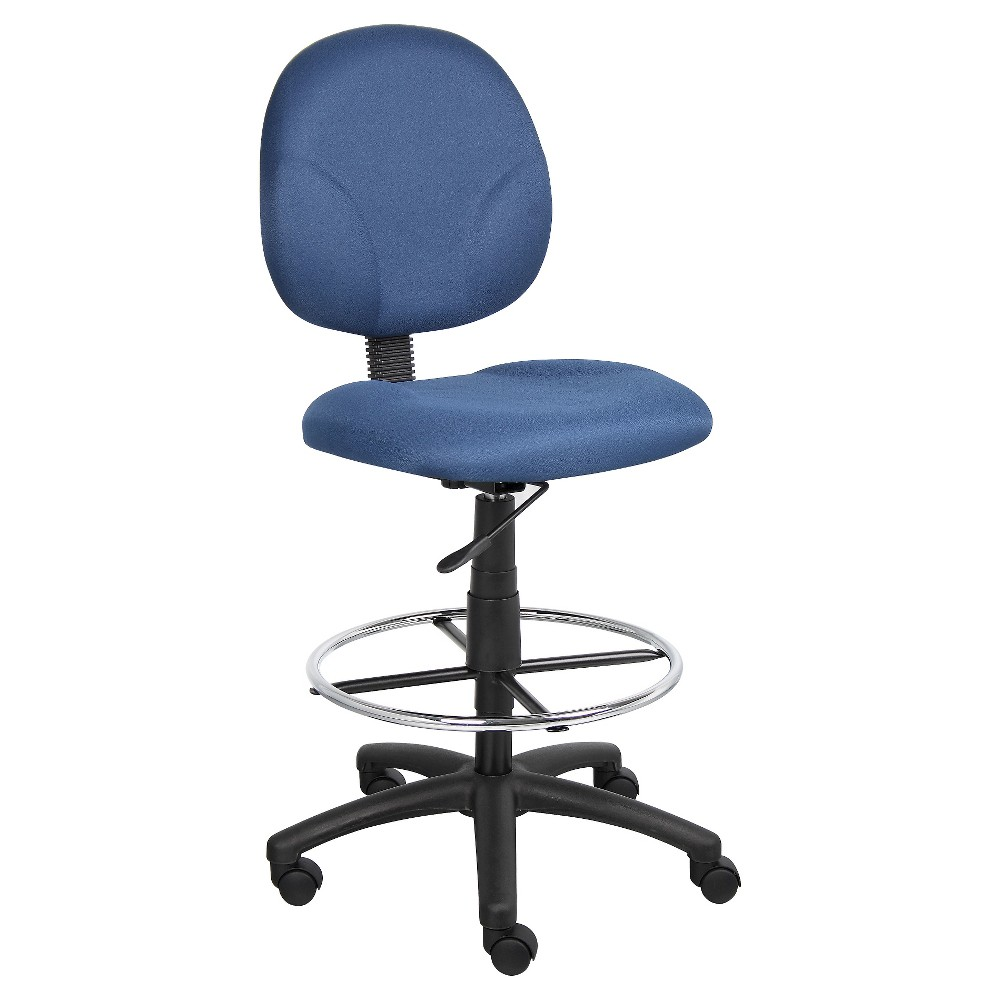 Super Fabric Drafting With Footring Blue Boss Office Products Creativecarmelina Interior Chair Design Creativecarmelinacom