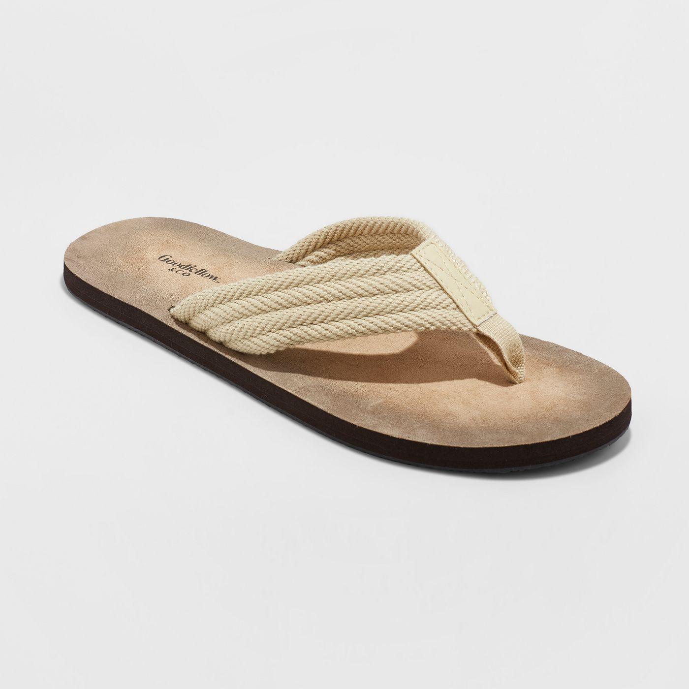 Men's Remington Flip Flop Sandals - Goodfellow & Co™ Tan - image 1 of 3