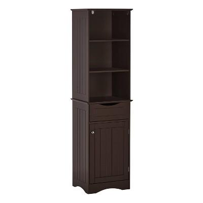 Ashland Tall Cabinet Espresso - RiverRidge Home