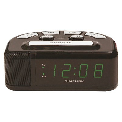 Digital Alarm Clock Black - Timelink