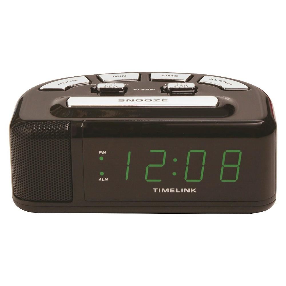 Image of Digital Alarm Clock Black - Timelink