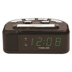 Digital Alarm Clock Black - Timelink