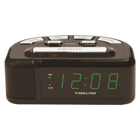 Digital Alarm Clock Black - Timelink - image 1 of 1