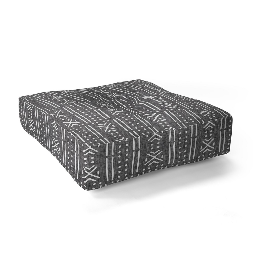 23x23 Holli Zollinger Mudcloth Floor Pillow Gray - Deny Designs was $89.0 now $71.2 (20.0% off)