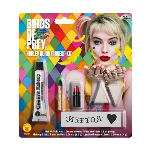 Birds Of Prey Harley Quinn Makeup Kit Halloween Accessories Target