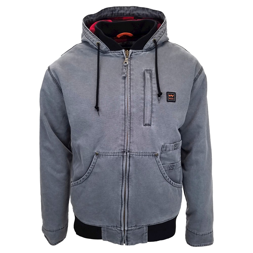 Walls Vintage Men's Tall Duck Hooded Fleece Jacket - Washed Graphite LT, Graphite Gray Heather