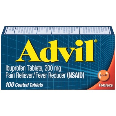 Advil Pain Reliever/Fever Reducer Tablets - Ibuprofen (NSAID)- 100ct