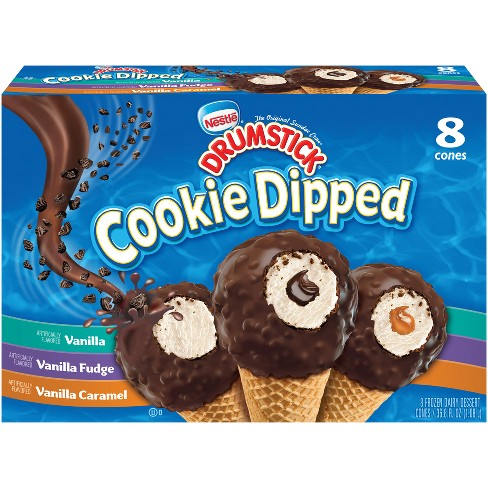 Nestle Drumstick Cookie Dipped Ice Cream Cone - 8pk - image 1 of 4