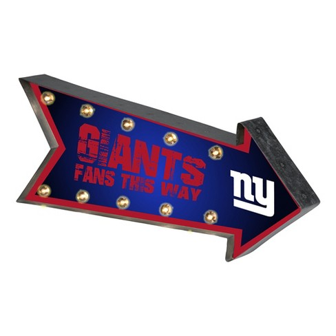 NFL New York Giants Arrow Light Up Marquee Sign - image 1 of 1
