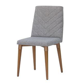Utopia Chevron Dining Chair Gray - Manhattan Comfort