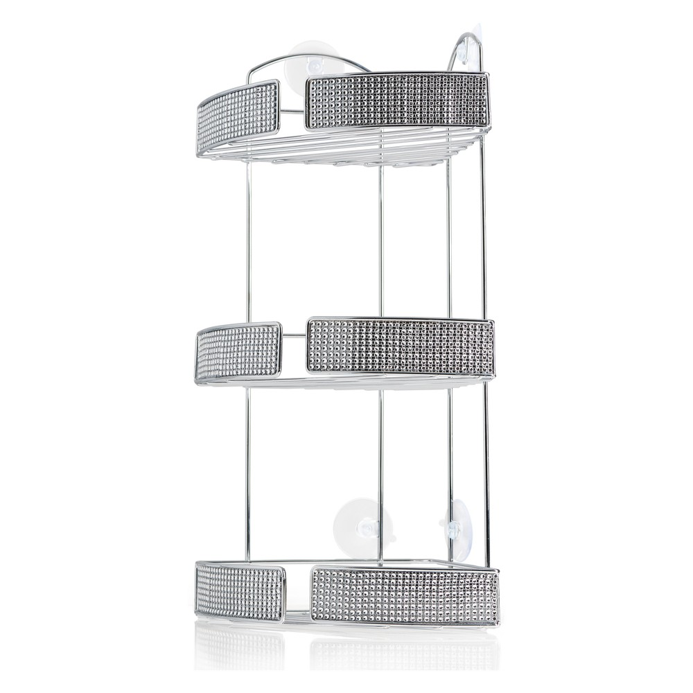 Image of 3 Tiered Shower Caddy Light Silver - Elegant Home Fashions