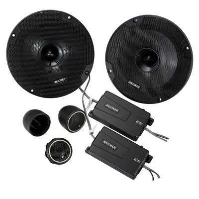 """Kicker 46CSS654 CS-Series 6-1/2"""" 2-Way Component Speakers"""